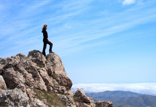 Lady on Mountain